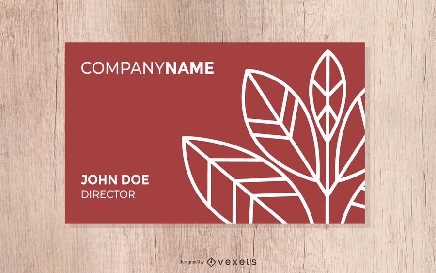 Fall Corporate Business Card