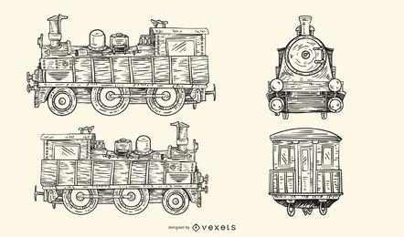 Viejo vector de tren europeo