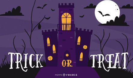 Ilustração em vetor Design de tema de Halloween