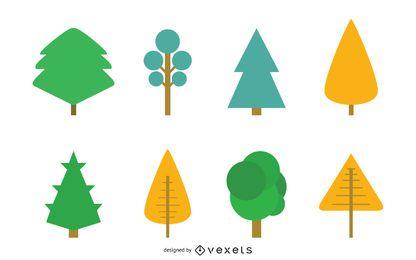Árbol símbolos vectoriales gráfico