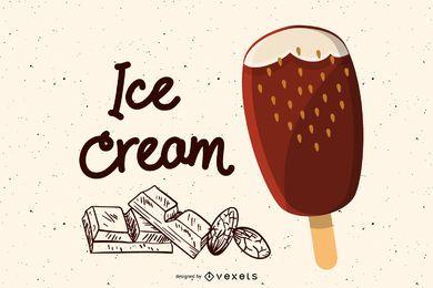 Picolés de sorvete vetor 3