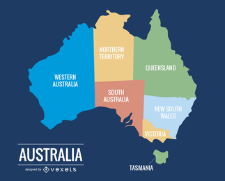 015 Australien Karte
