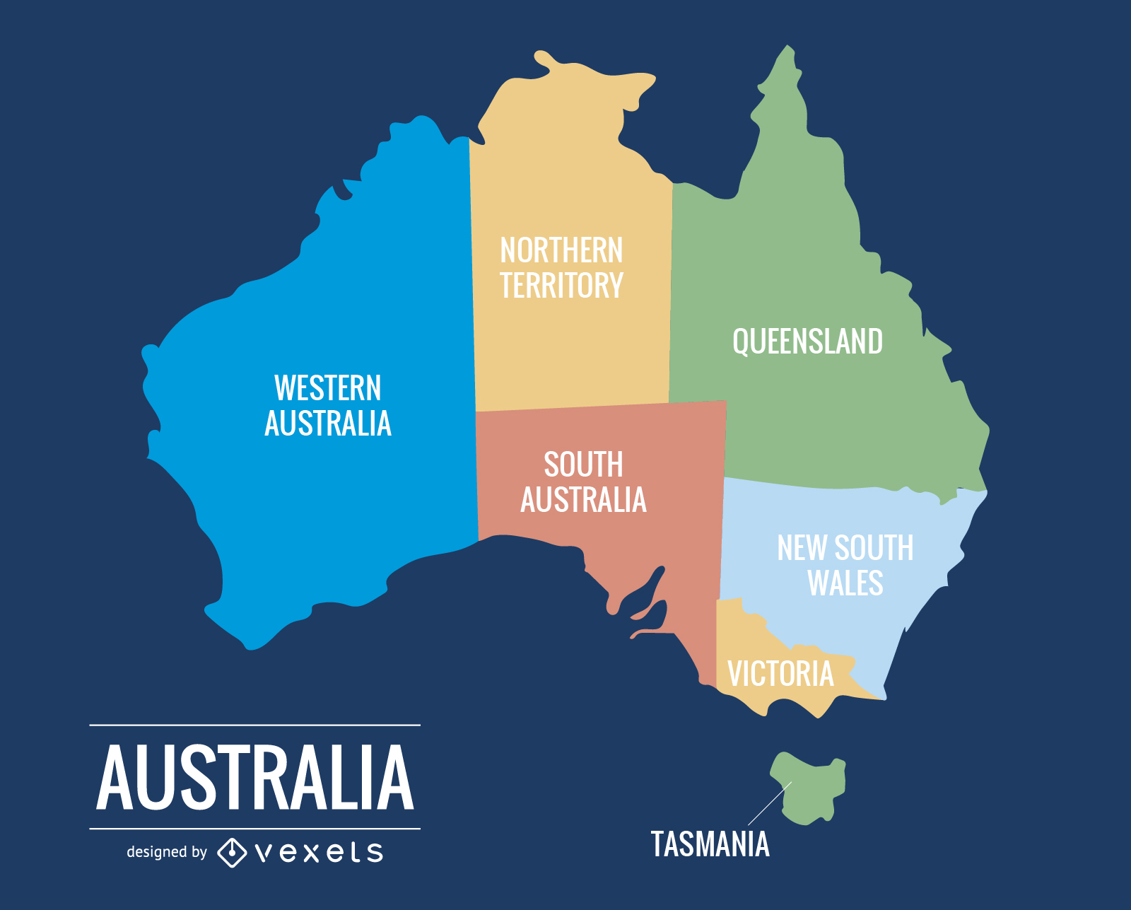 australia mapa 015 Australia Map   Vector download australia mapa