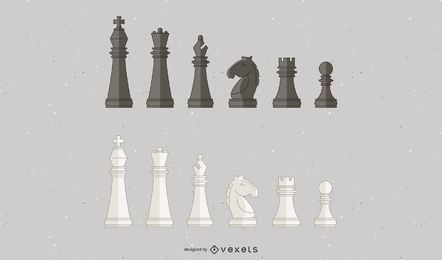 Chess pieces illustration design