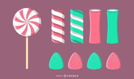 Vetor de doces