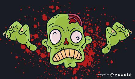 Zombie blood illustration design