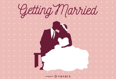 Getting married illustration design