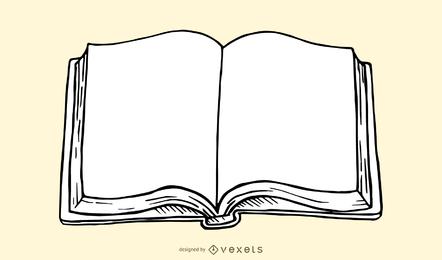Ilustração de livro aberto