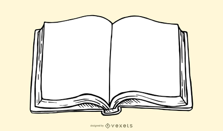 Libro abierto ilustracion