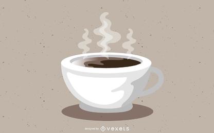 Diseño de vector de taza de café caliente