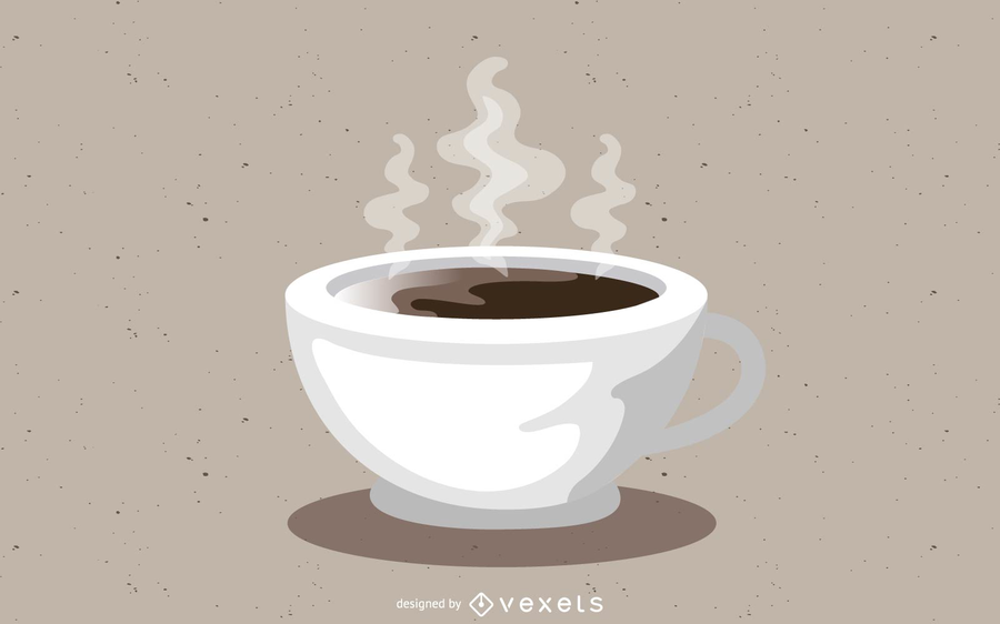 Hot Coffee Cup Vector Desing