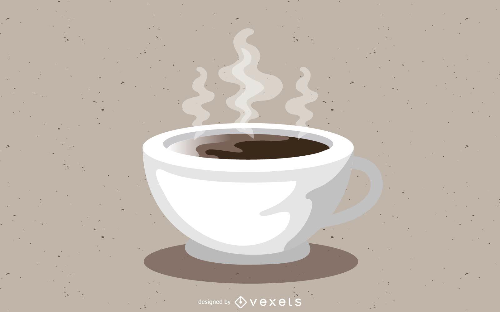 Heiße Kaffeetasse Vektor Desing