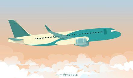Material de vectores de avión civil