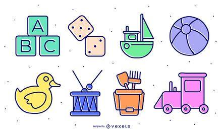 kid toys illustration set