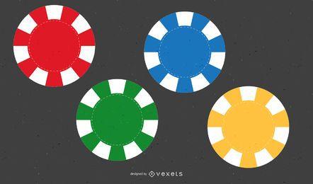 Vectores de fichas de póquer