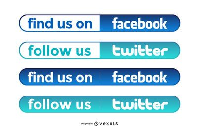 Simple Facebook And Twitter Buttons