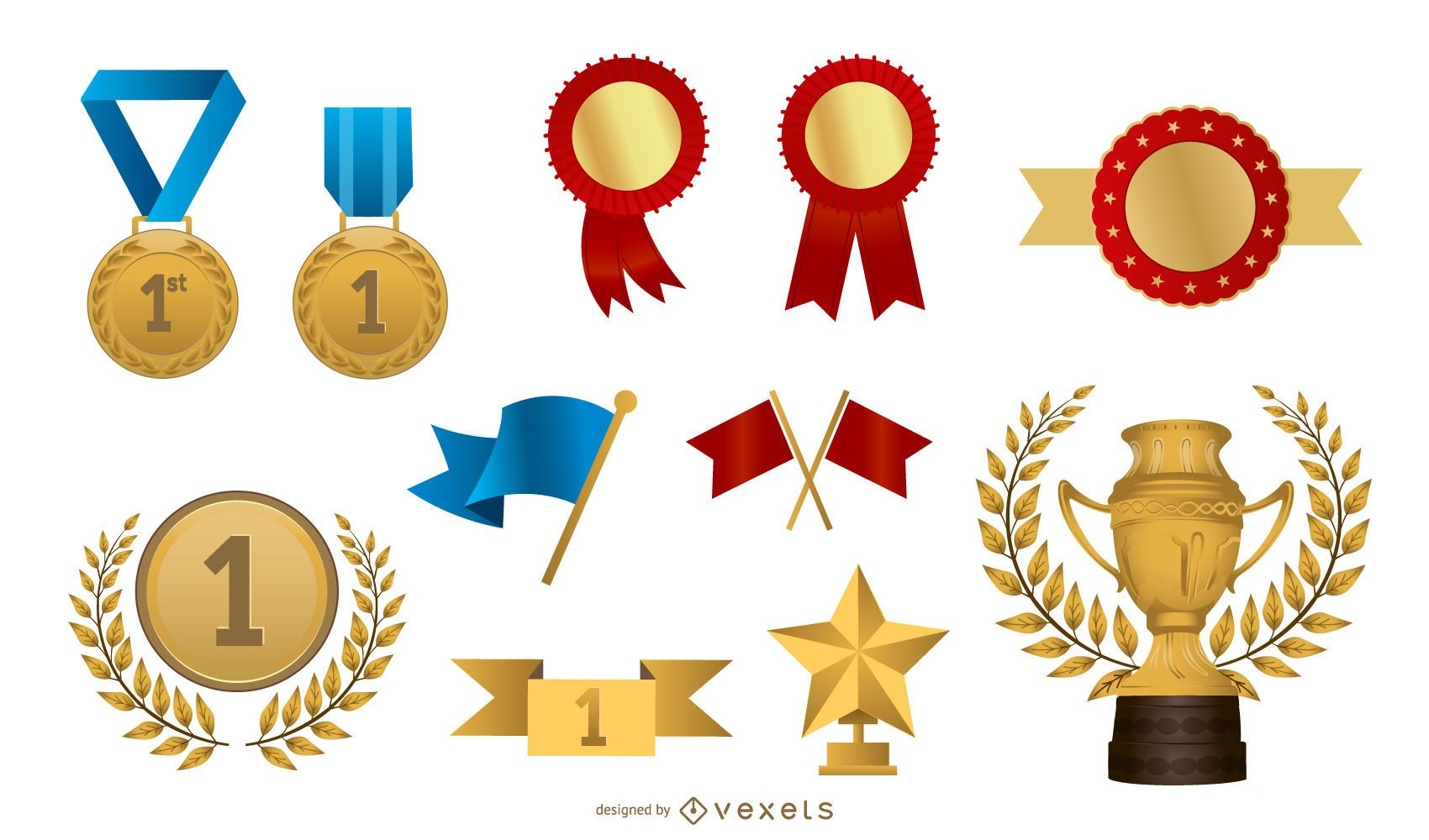 Some Of The Practical Badge Medal Vector