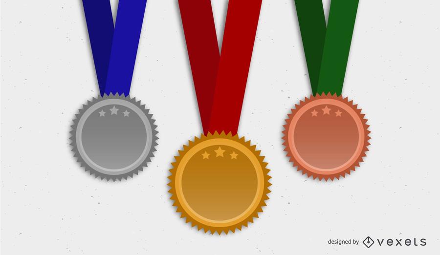 Medalla medalla vectorial