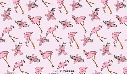 Padrão de ilustração de Flamingo