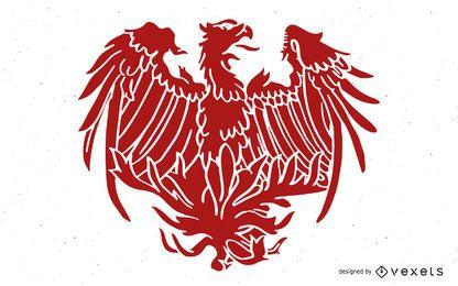 Vector Phoenix chinês tradicional