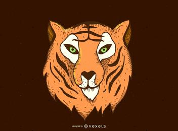 Diseño del vector cabeza de tigre
