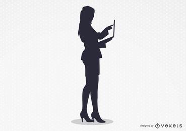 Der sexy Frauenarbeitsvektor
