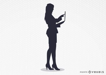 O vetor de trabalho mulher sexy