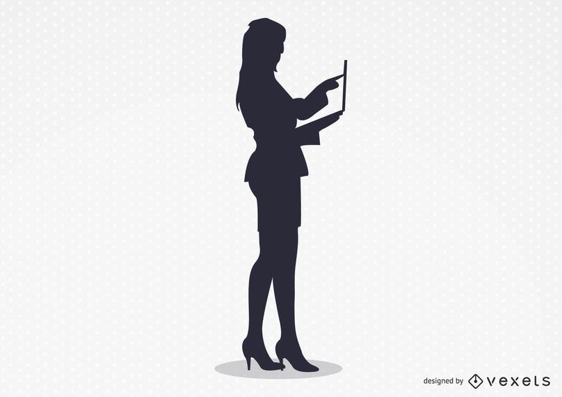 La mujer sexy trabajando vector