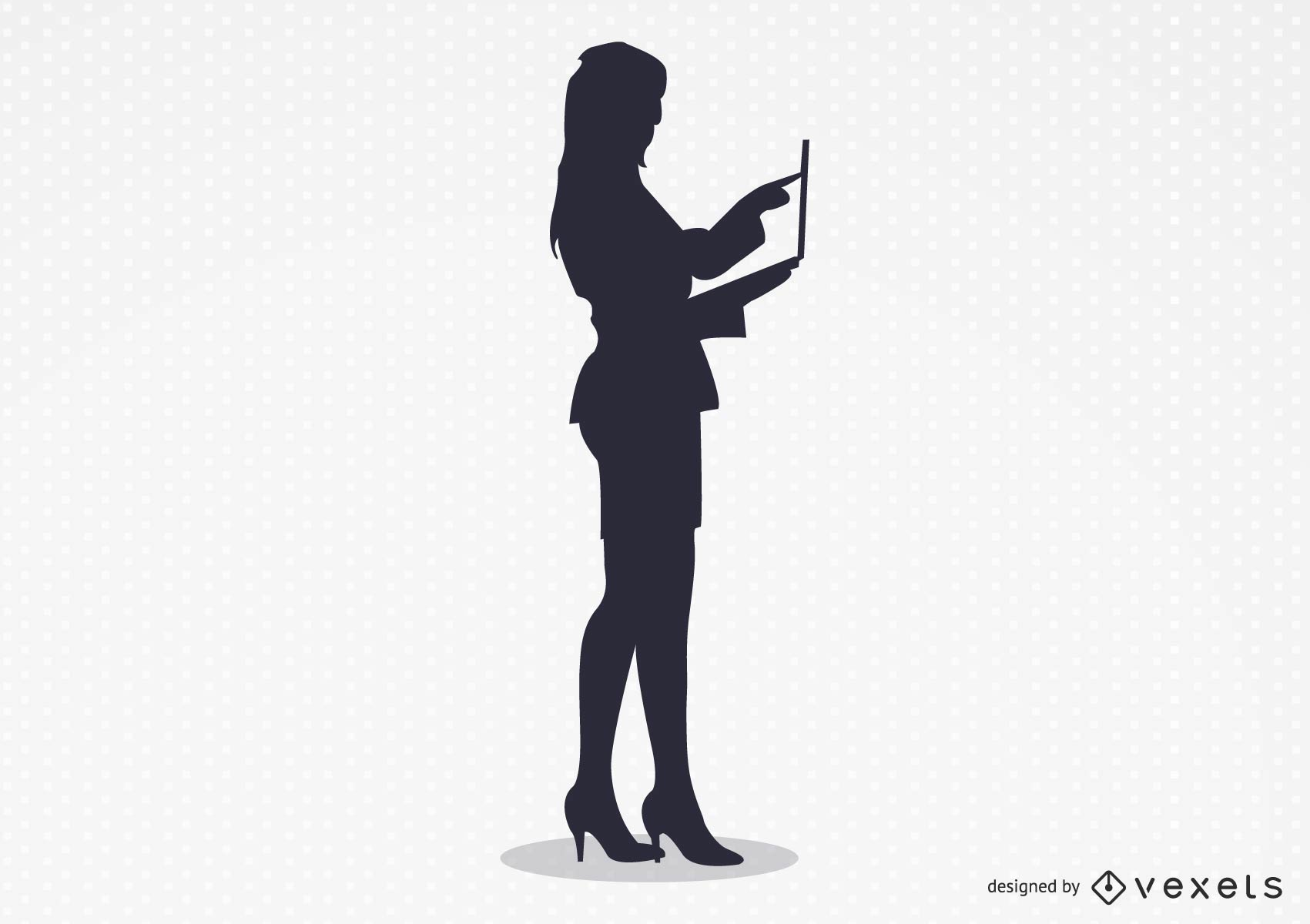 The Sexy Woman Working Vector