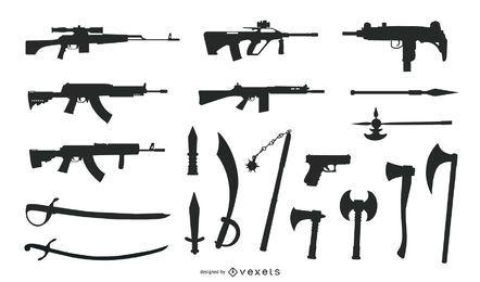 Gráficos vectoriales gratuitos sobre armas