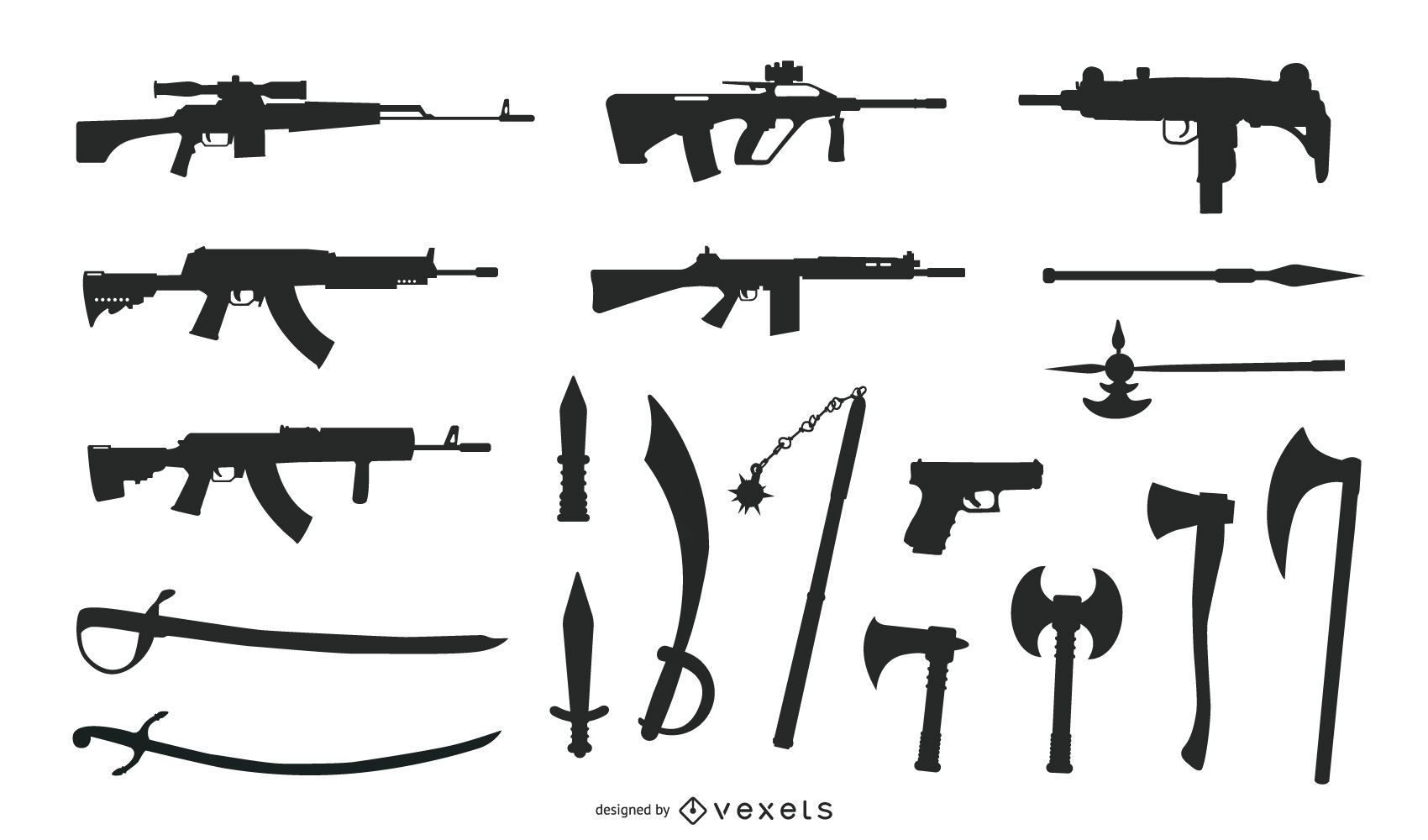 Free Weapons Vector Graphics
