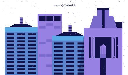 Vector de rascacielos de la ciudad