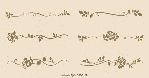 O vetor de rosas de arte linha retrô