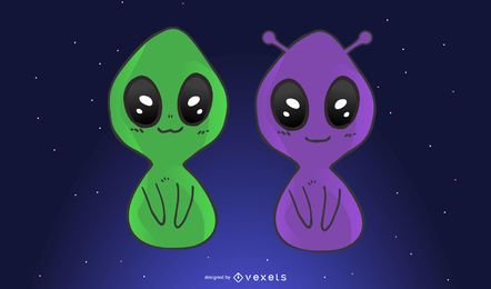 Alienígenas bonitos