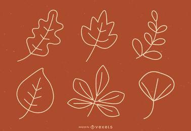 Vectores de hojas de otoño