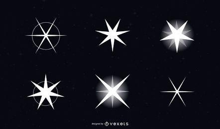 Paquete de diseño de estrella blanca