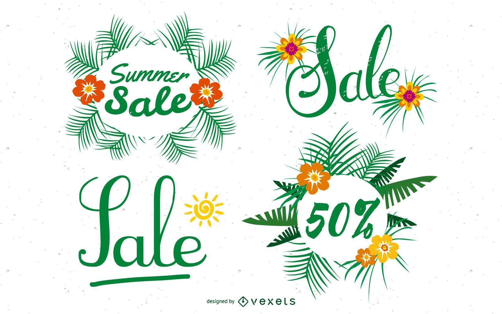 Summer Deals Posters Vector