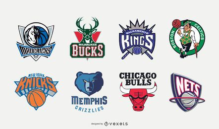 90s NBA Logo Design Set