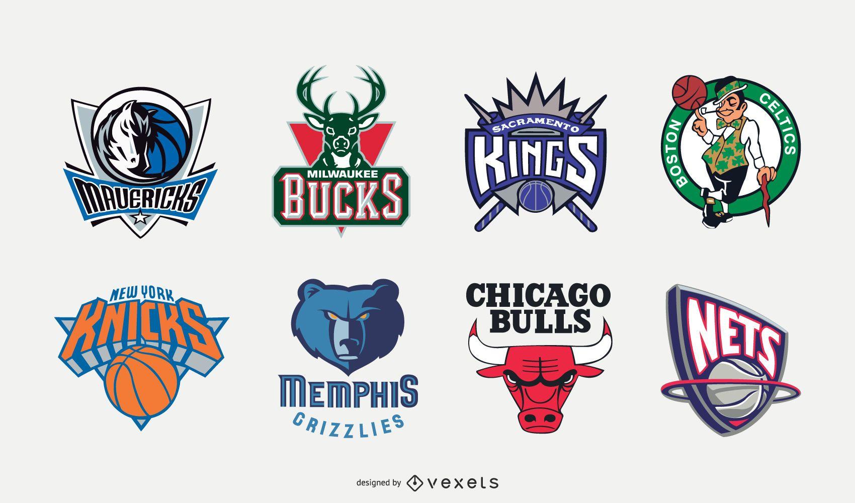 90s NBA Logo Design Set