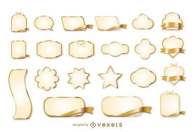 Vector de etiqueta de cinta de oro 3