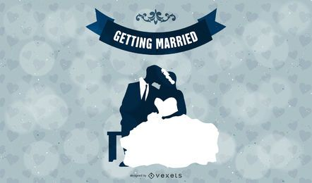 Getting Married Wedding Vector Graphic