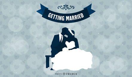 Gráfico de vetor de casamento casamento