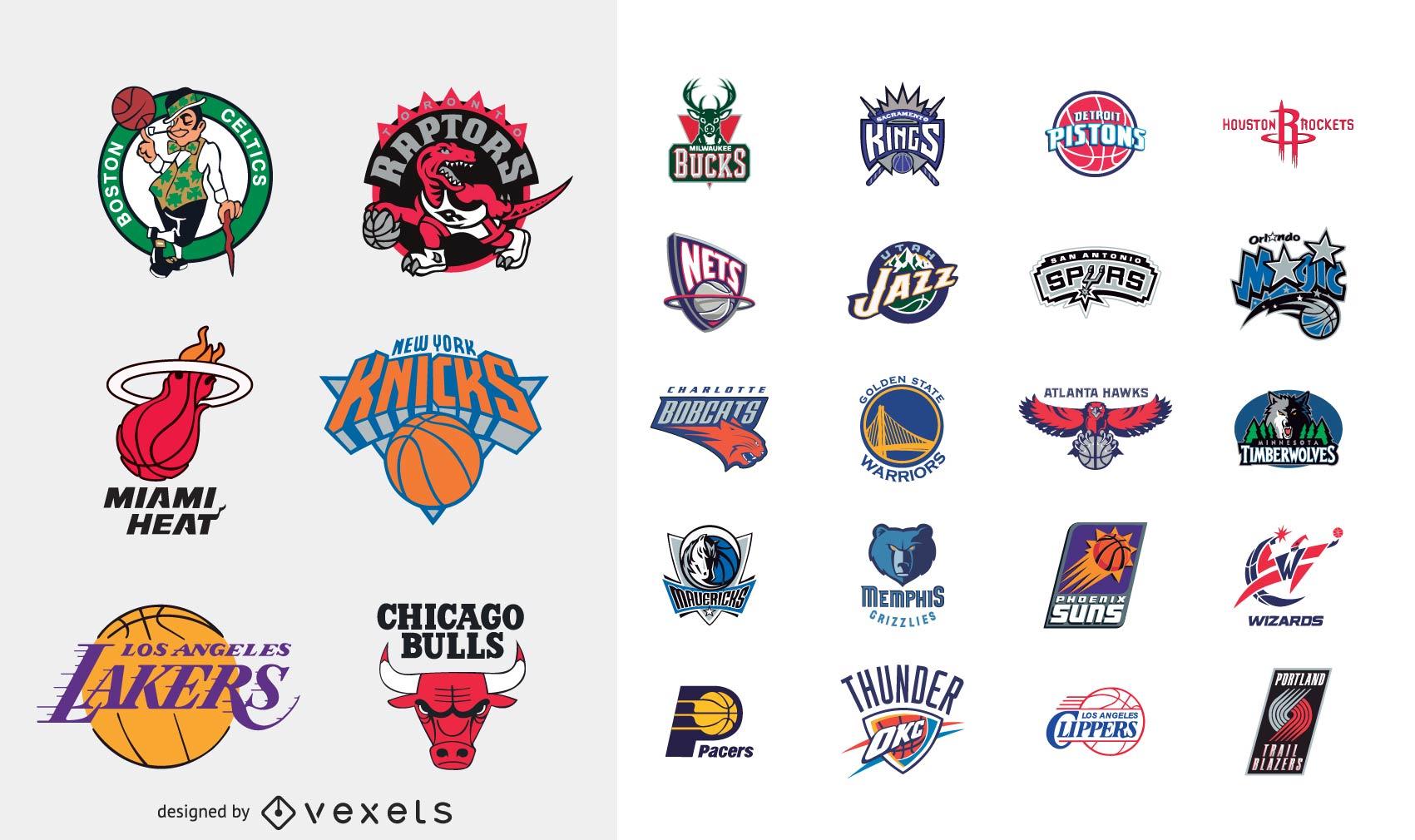 Logotipos vectoriales del equipo de baloncesto de la NBA