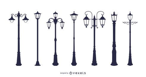 Lámparas de calle estilo europeo Lámpara Vector de lámpara