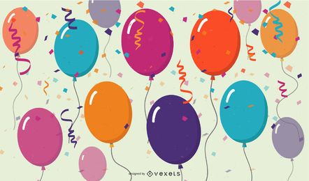party balloons illustration design