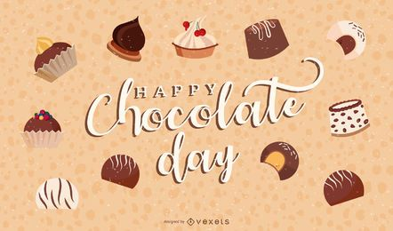 happy chocolate day illustration design