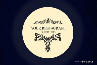 European Restaurant Design Vector