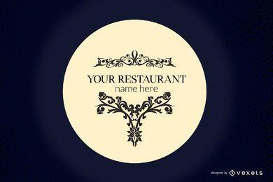 Restaurante europeo vector de diseño