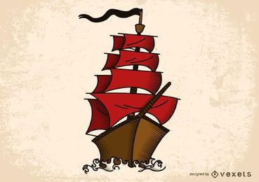 Vector de tema nautico