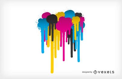 Vector de tema de color cmyk
